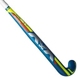Stick de hockey sur gazon enfant confirmé fiberglass Total3 bleu et jaune