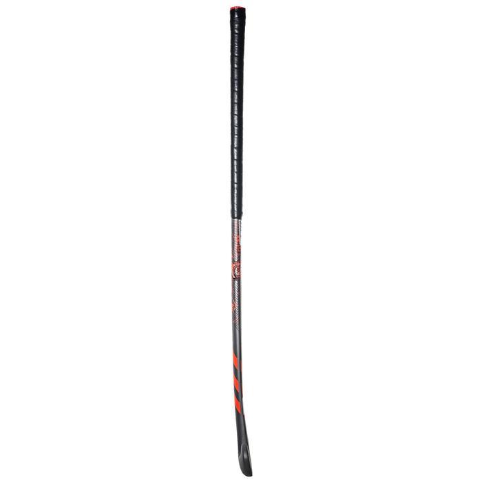 Hockeystick voor kinderen beginner hout TX24 Core7 grijs en rood