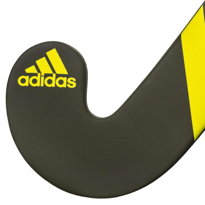 Stick de hockey sur gazon adulte confirmé lowbow 20% carbone LX24Compo4 jaune