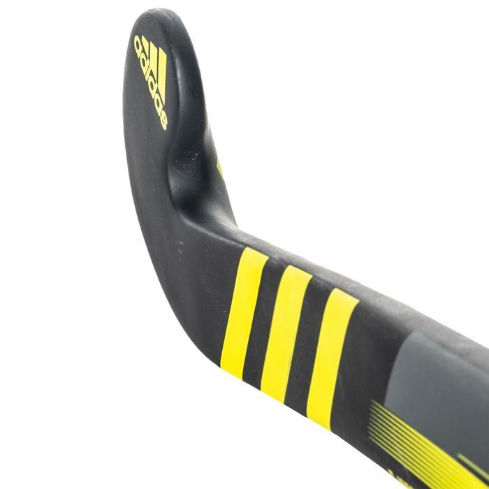 Stick de hockey sur gazon enfant confirmé fiberglass LX24 Compo6 noir et jaune