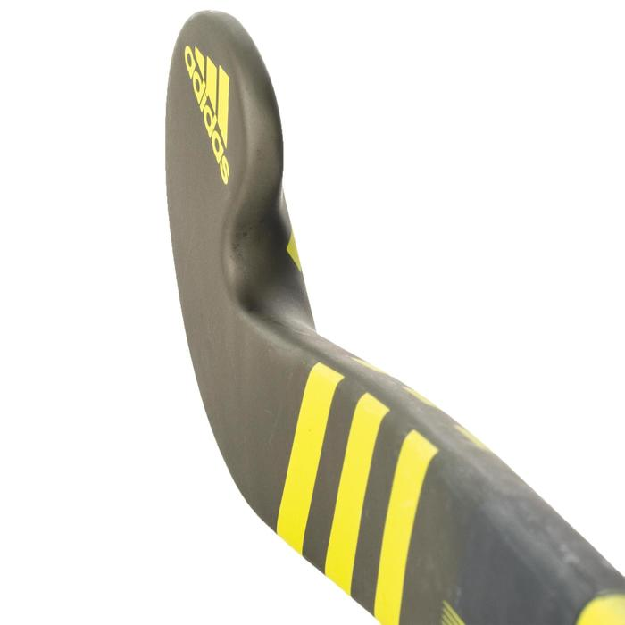 Hockeystick voor volwassenen halfgevorderden 20% carbon LX24 Compo4 geel