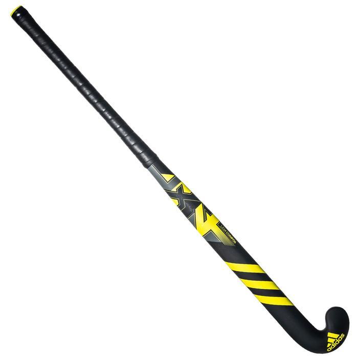 Veldhockeystick voor kinderen halfgevorderd glasvezel LX24 Compo6 zwart geel