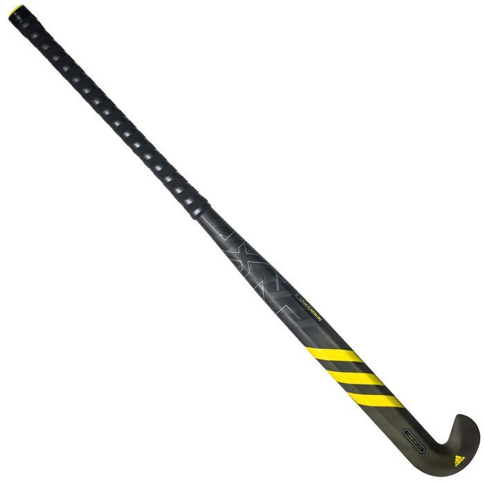 Stick de hockey sur gazon adulte expert lowbow 90% carbone LX24Carbon gris+jaune