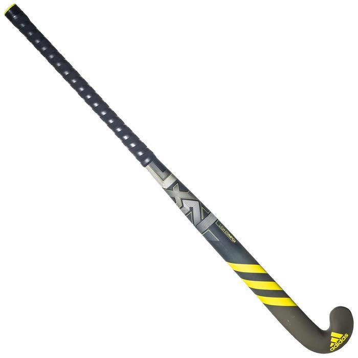 Stick de hockey sur gazon adulte confirmé lowbow 50% carbone LX24Compo2 jaune