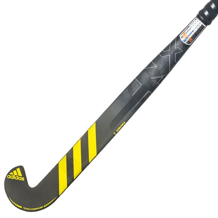 Hockeystick volwassenen gevorderden low bow 90% carbon LX24 carbon grijs geel
