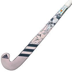 Hockeystick voor kinderen beginners hout K17 Queen blauw en roze