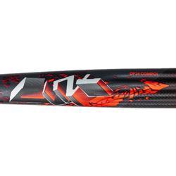 Hockeystick volwassenen gevorderden extraLB 70% carbon DF24 Compo1 rood