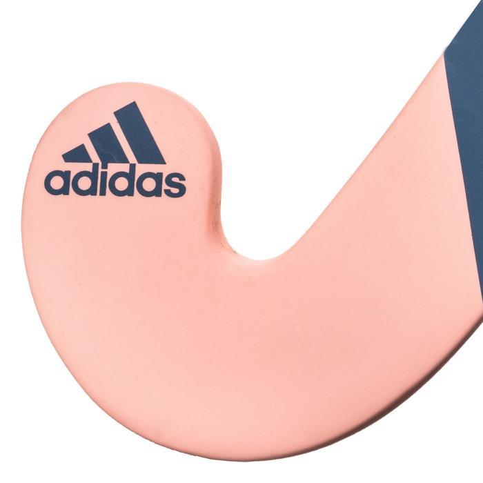 Veldhockeystick voor kinderen halfgevorderd glasvezel FLX24 Compo6 roze grijs