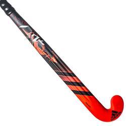 Stick de hockey sur gazon adulte expert extraLB 70% carbone DF24Compo1 rouge