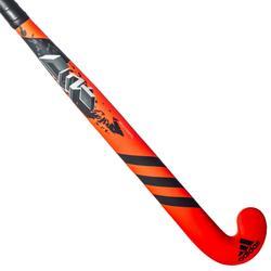 Stick de hockey sur gazon enf expert fiberglass midbow DF24 Compo6 rouge et noir