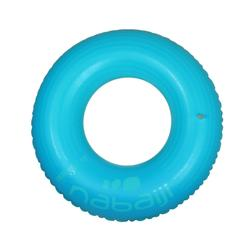 Inflatable buoy 92 cm yellow blue large size with fast valve