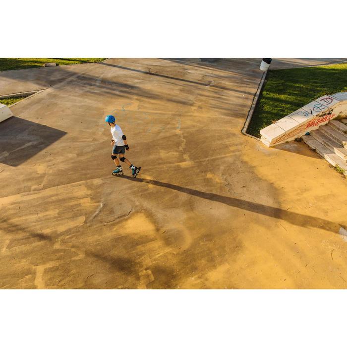 Patines Patinaje En Línea Oxelo Fit 5 Niños Negro/Azul