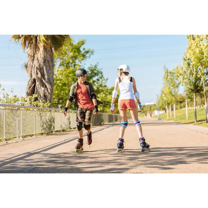 Fitnessskeelers voor kinderen Fit 5 blauw koraalrood