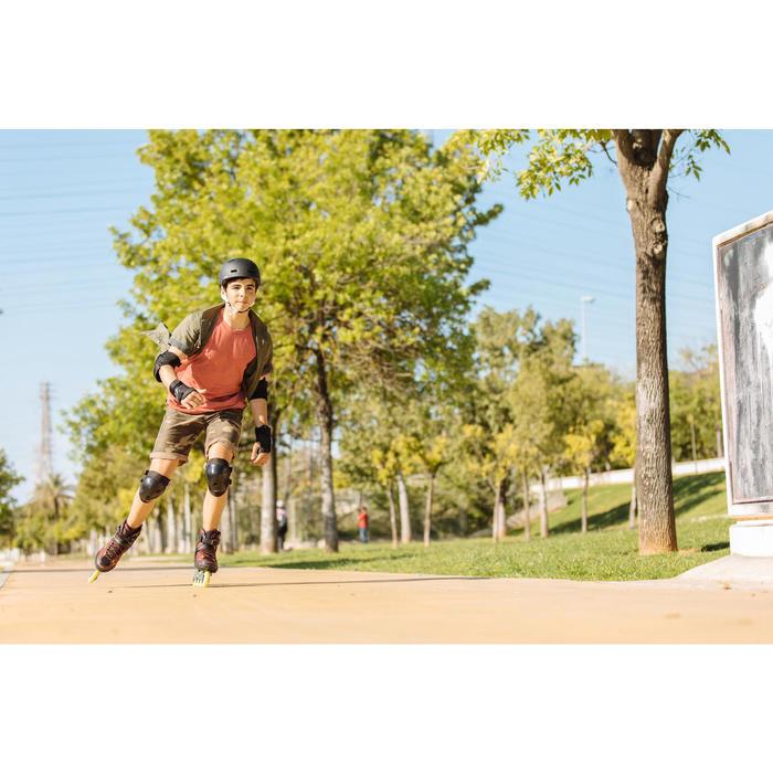 Patines en línea Fitness Fit 5 Niños Negro/Rojo
