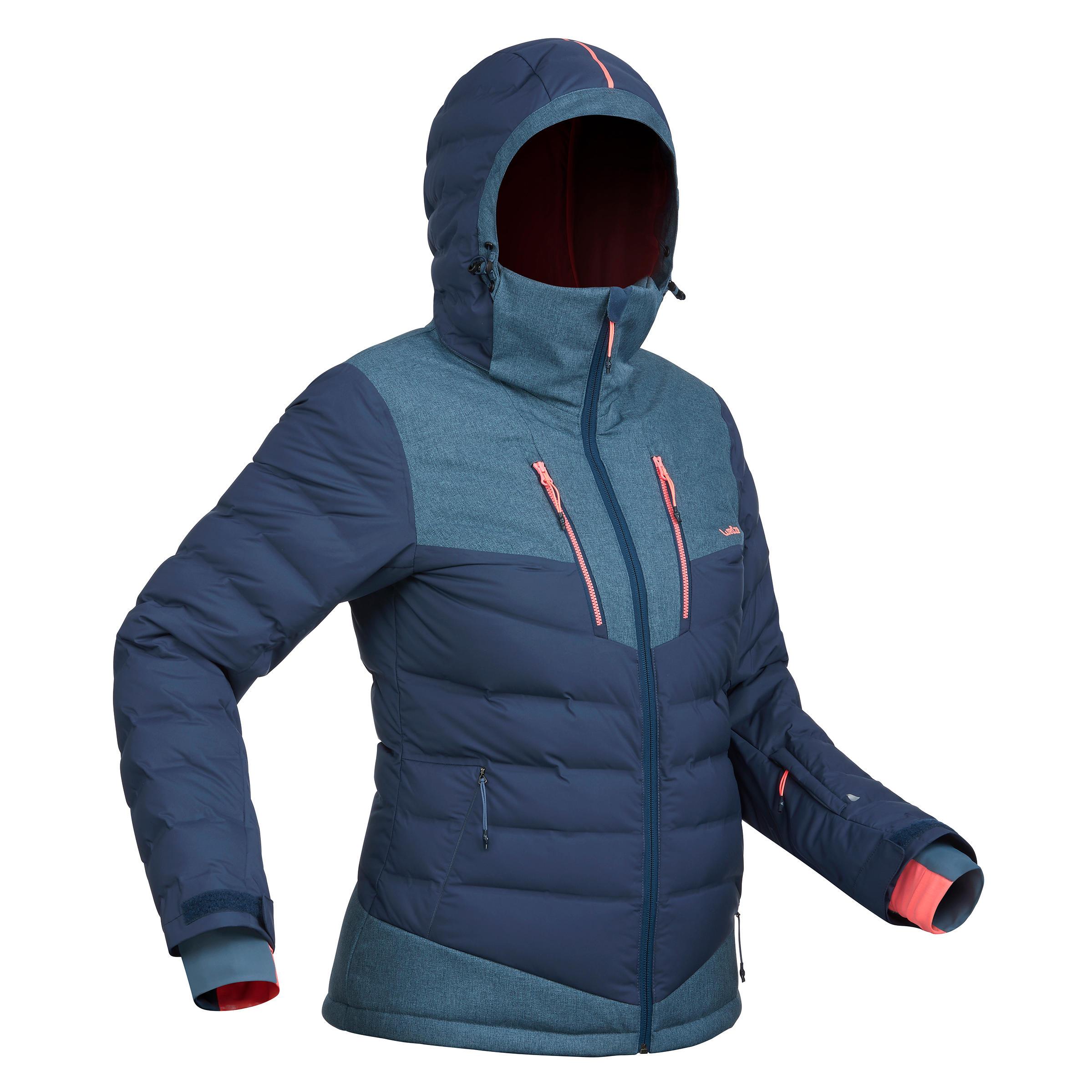 Wed'ze Ski-jas dames voor pisteskiën SKI-P JKT 900 Warm marineblauw