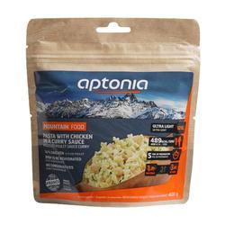 Vriesdroogmaaltijd voor trekking Mountain Food pasta met kip en currysaus 120 g