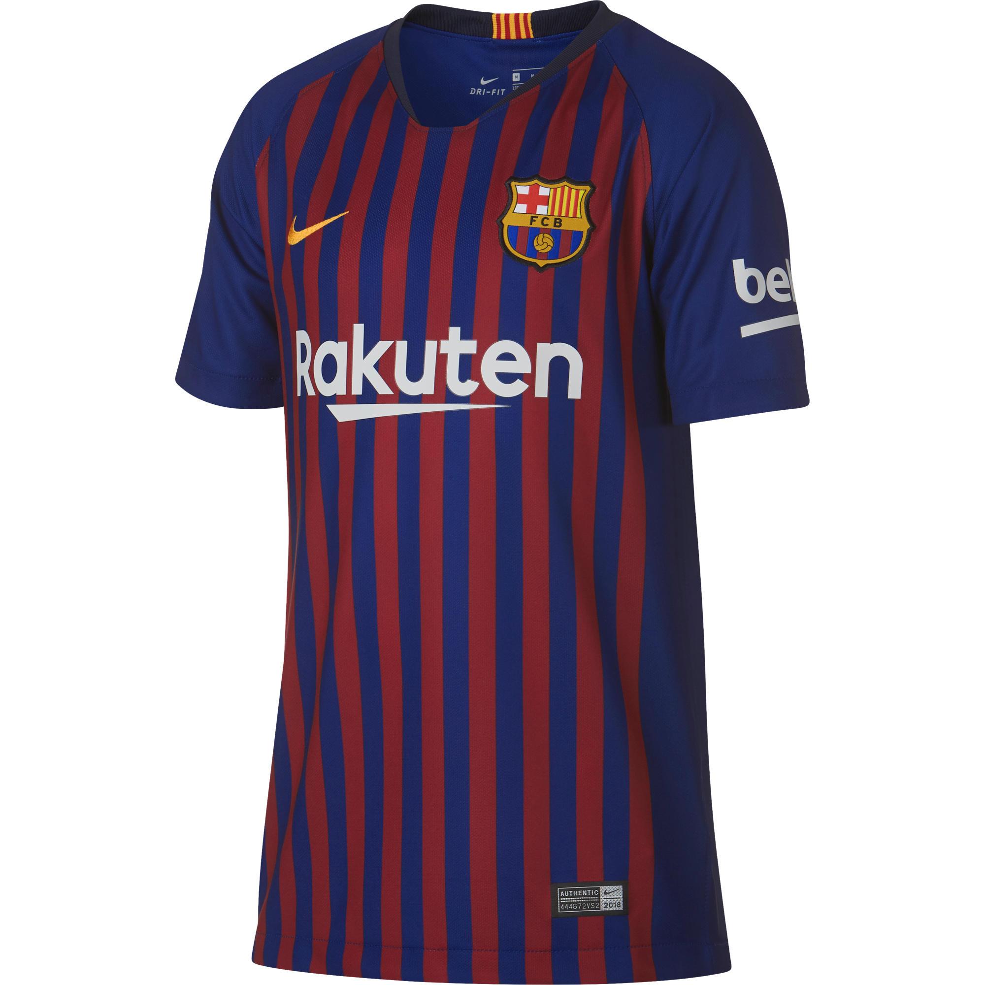 Camiseta de Fútbol Nike oficial F.C. Barcelona 1ª equipación niños 2018 19 ebe006659f6
