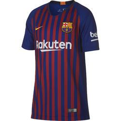 Maillot football enfant réplique Barcelone domicile bleu rouge