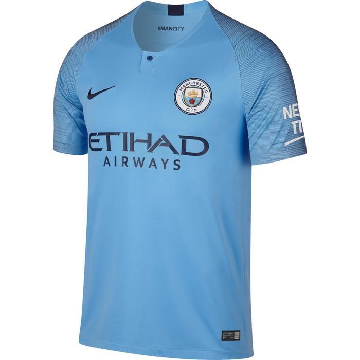 Voetbalshirt Manchester City thuisshirt 18/19 blauw