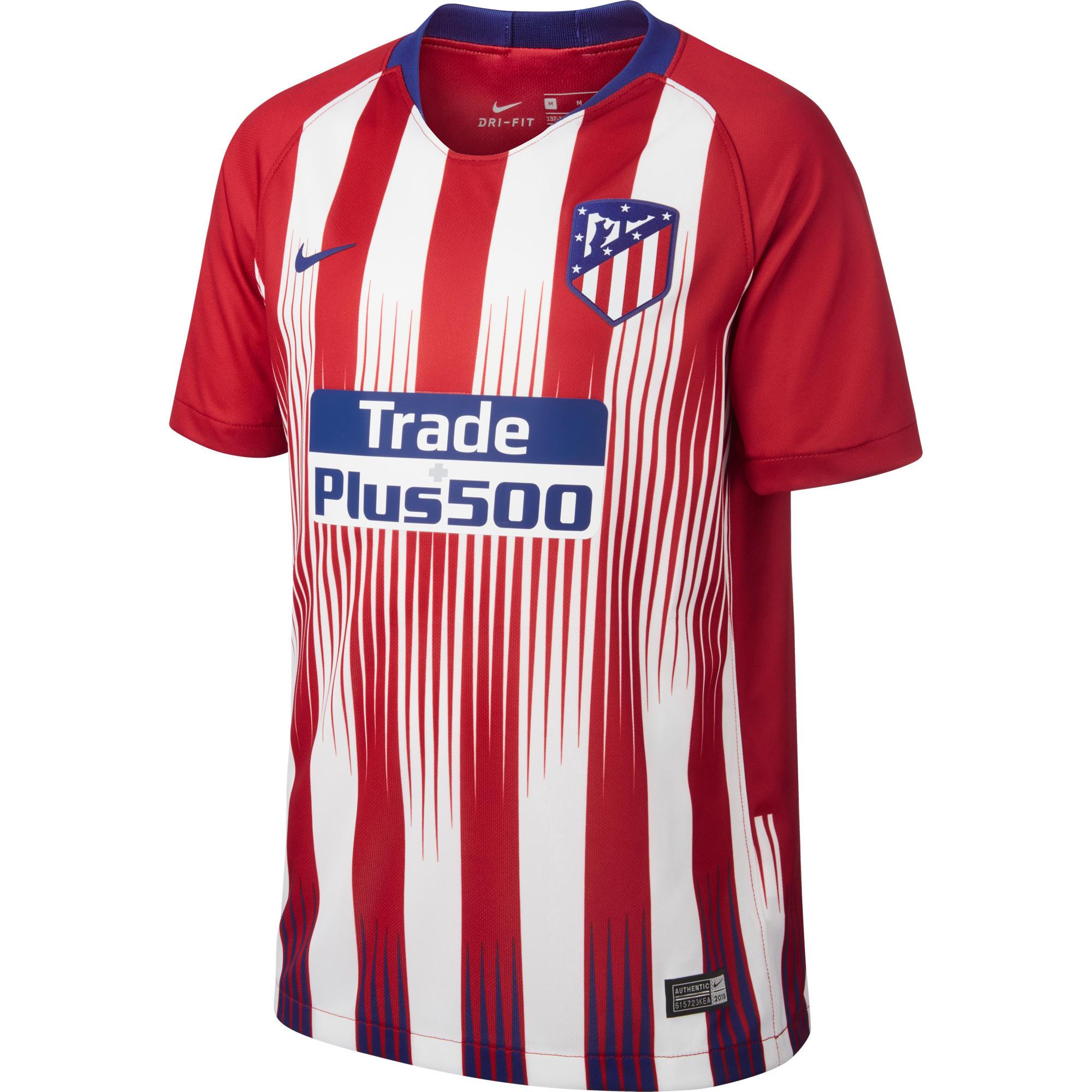 Camiseta de Fútbol Nike oficial Atlético de Madrid 1ª equipación niños  2018 2019 f695b35ea326e