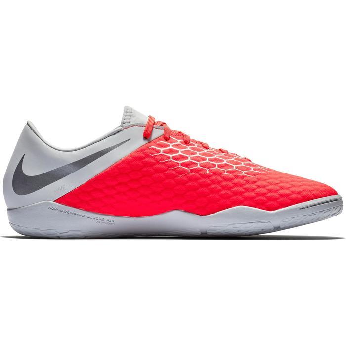 Zaalvoetbalschoenen Hypervenom Phantom III Academy IC volwassenen grijs/rood