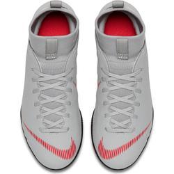 Zapatillas de fútbol sala Mercurial Superfly club júnior gris rojo