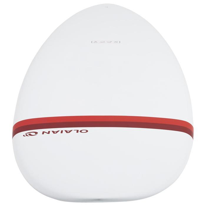 Tabla Surf Epoxi Shortboard Olaian 500 6,6' Adulto Blanco Rojo Quillas