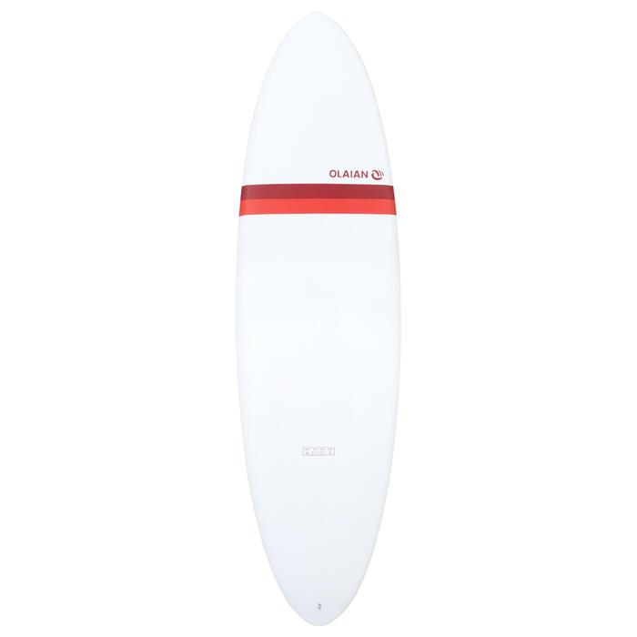 Hardtop surfboard Egg 6'6 500. Geleverd met 3 vinnen.