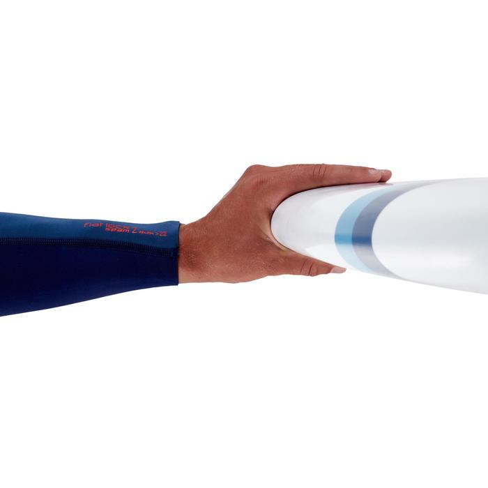 """Tabla de surf rígida Malibu 8'2"""" 500. 3 quillas incluidas."""