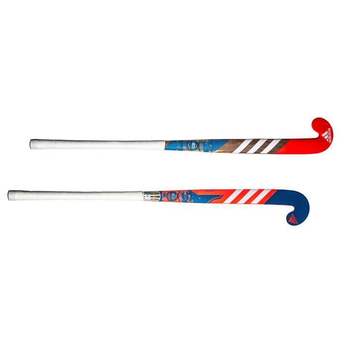 Zaalhockeystick kinderen beginners hout CB Wood rood