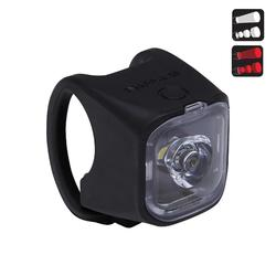 Beleuchtung Fahrrad Vioo 500 City USB Frontlicht/Rücklicht schwarz