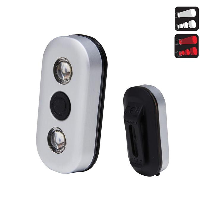 FIETSVERLICHTING OP LED CL 900 VOOR/ACHTER ZWART USB