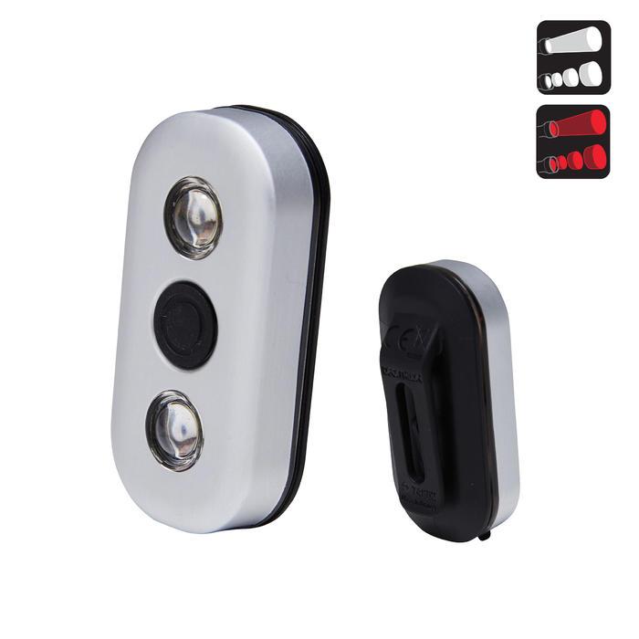 Fietsverlichting op led CL 900 voor- en achteraan USB Vioo Clip
