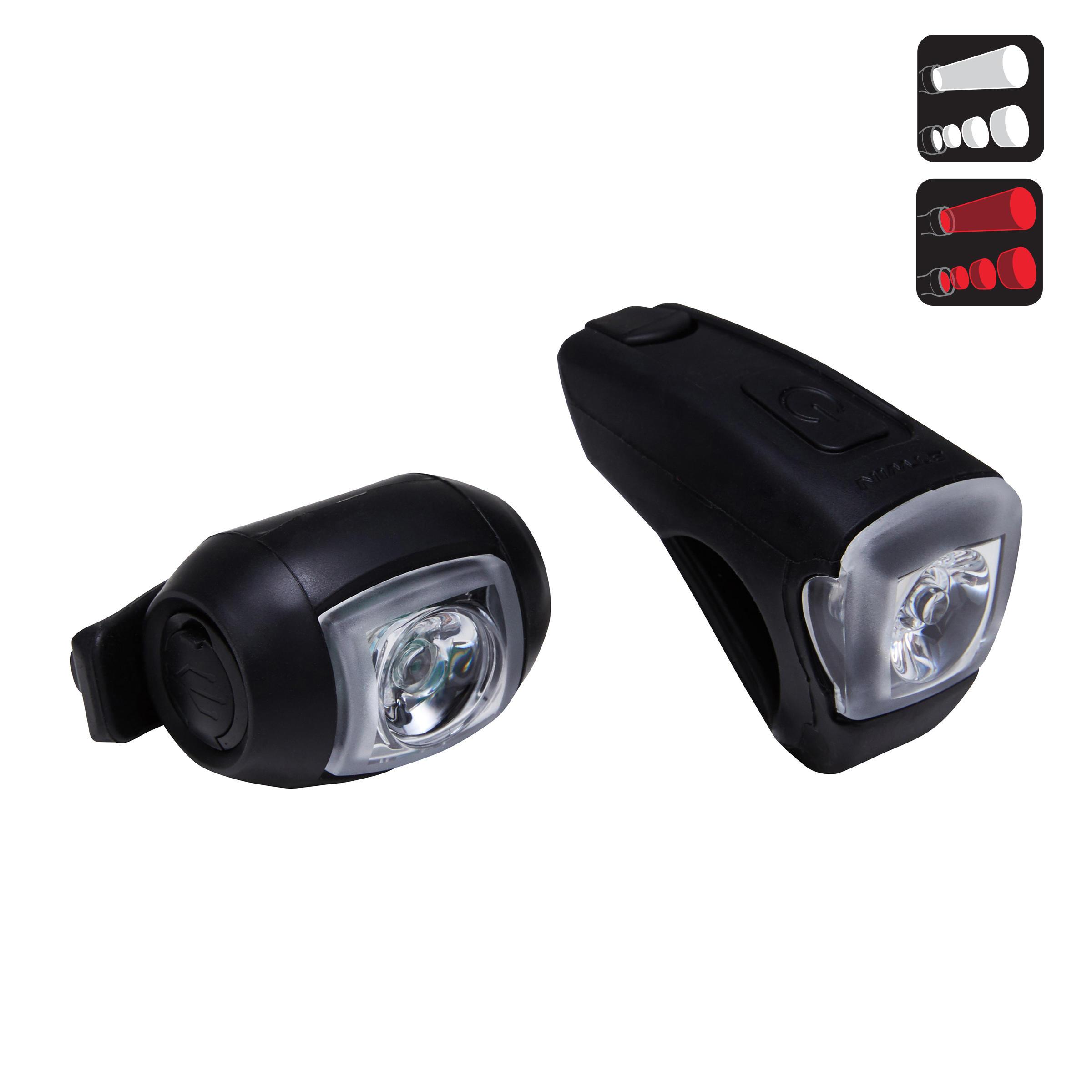 Vioo 300 USB Bike LED Light Set - Black