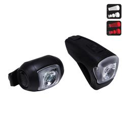 KIT ECLAIRAGE VELO LED VIOO CITY 300 NOIR USB