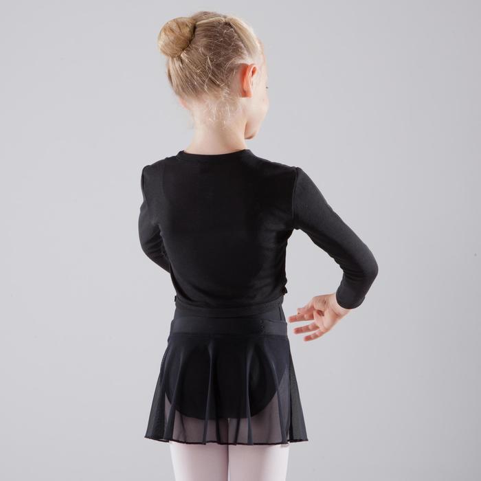 Ballett-Wickeljacke Kinder schwarz