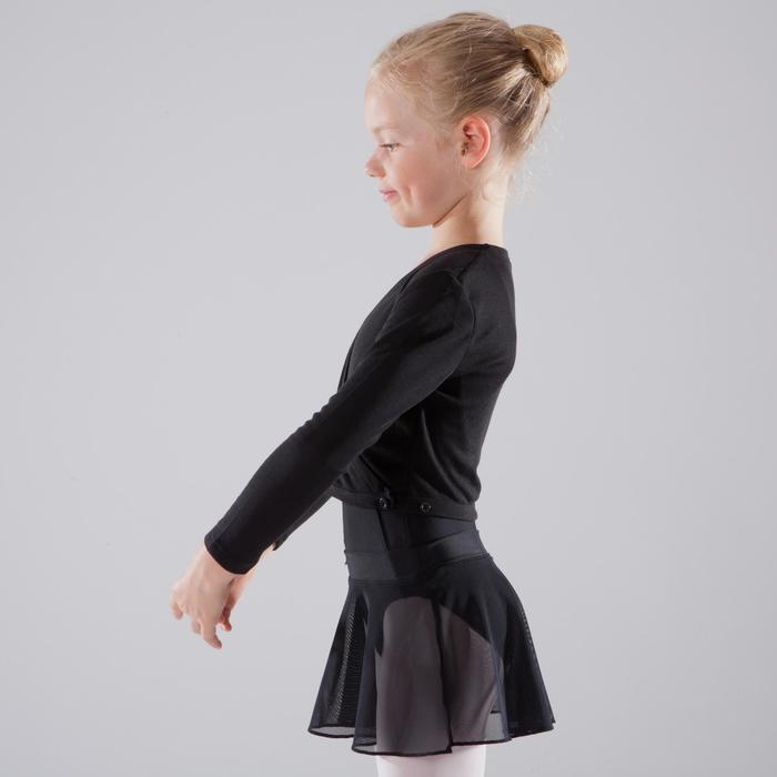 Ballett-Wickeljacke Mädchen schwarz