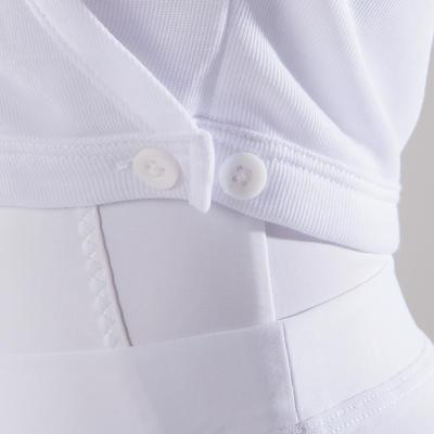 Girls' Ballet Wrap-Over Top - White
