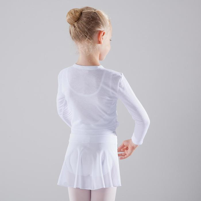 Ballet cache-coeur voor meisjes wit
