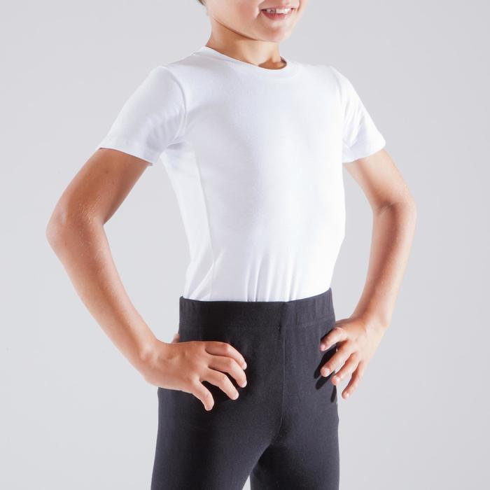 Camiseta de manga corta blanco danza niños
