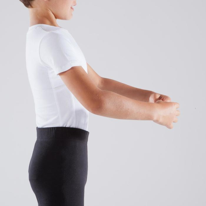 T-Shirt Ballett Kurzarm Jungen weiß