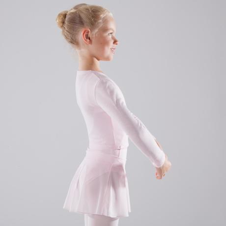 65bdc0571b Camisola de Traçar de Dança Clássica Menina Rosa Pálido