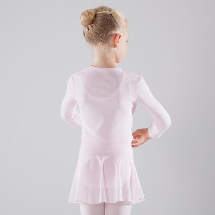 Ballett-Wickeljacke Kinder hellrosa
