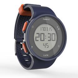 男款跑步碼錶W500 - 藍色與橘色