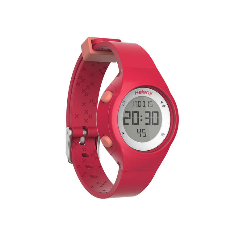 ATHLLE WATCHES OR STOPWATCHE Nordic Walking - W500 S running watch pink KIPRUN - Nordic Walking
