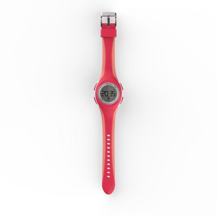 Hardloophorloge met stopwatch W200 S roze en koraal