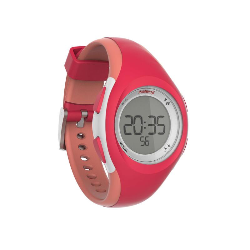 Montre chronomètre de course à pied W200 P rose et corail