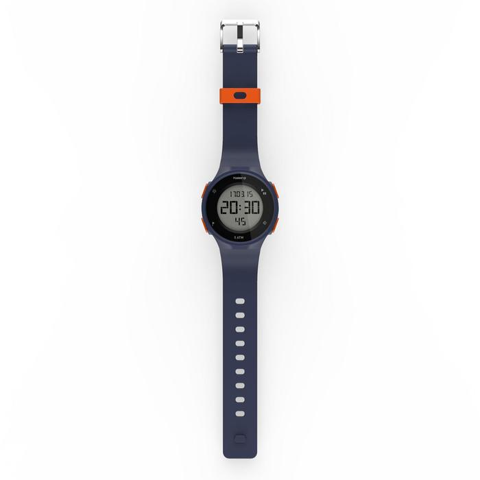 Montre chronomètre de course à pied W500 M bleue et orange