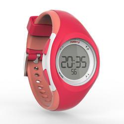 Reloj cronómetro de atletismo mujer W200 S rosa y coral