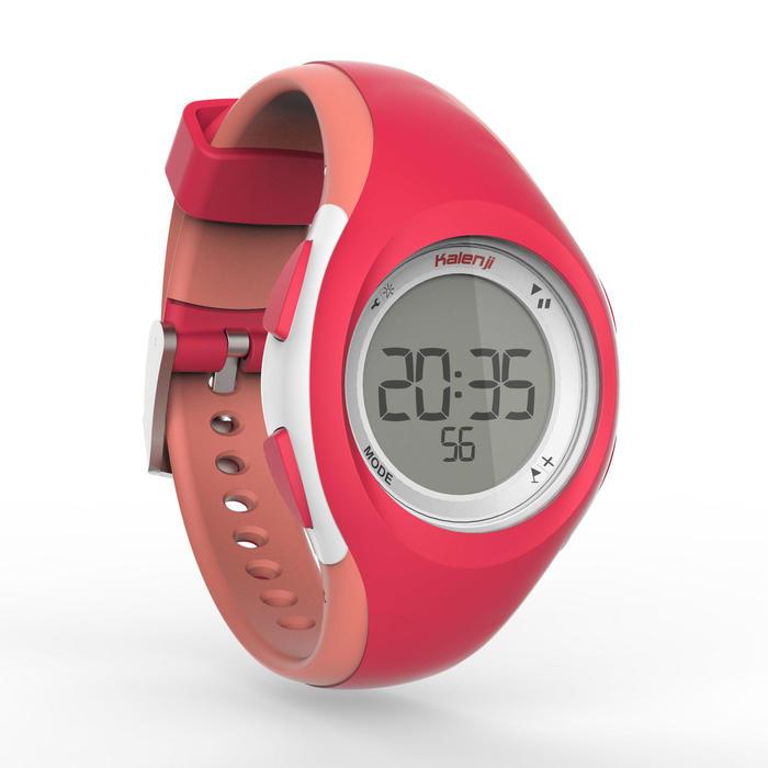 女款跑步腕錶W200 S - 粉紅/珊瑚紅配色
